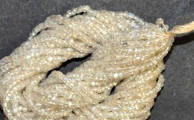 Best.Nr.:62045 3-Cutbeads in den1920/30 Jahren in Gablonz/Böhmen hergestellt,  kristall mit lüster