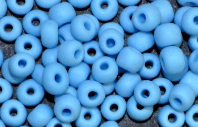 Best.Nr.:14022 Rocailles von Ornella Preciosa Tschechien  hellblau mattiert (frostet)