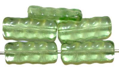 Best.Nr.:49204 Glasperlen in Gablonz/Böhmen hergestellt,  wassergrün transp.