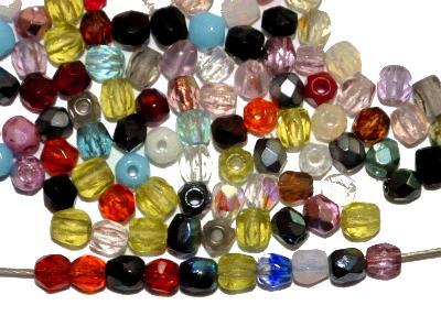 Best.Nr.:s-0037 geschliffene Glasperlen, hergestellt in Gablonz Tschechien, Farbmix so oder �hnlich