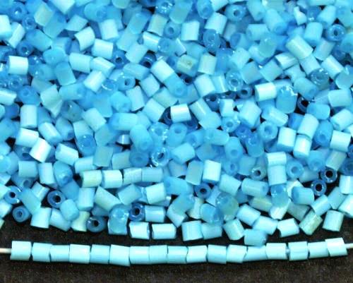 Best.Nr.:16010 Glasperlen aus  Satinglas türkis,  hergestellt von Ornella Preciosa Tschechien