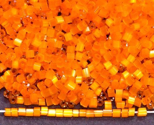Best.Nr.:16015 Glasperlen aus  Satinglas orange,  hergestellt von Ornella Preciosa Tschechien