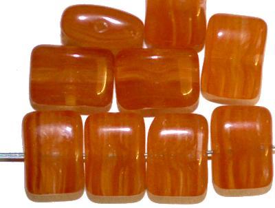 Best.Nr.:49160  Glasperlen Pillowbeads braun meliert, hergestellt in Gablonz / Tschechien
