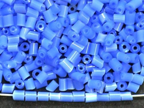 Best.Nr.:16028 Schnittperlen / 2-Cutbeads  alabaster blau,  von Preciosa Ornella Tschechien