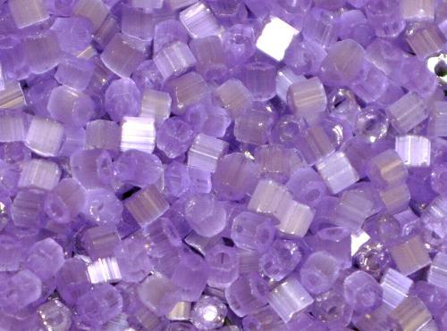 Best.Nr.:16035 Schnittperlen von Ornella Preciosa Tschechien,  Satinglas violett