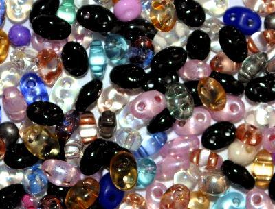 Best.Nr.:78053 Twin Beads von Ornella Preciosa Tschechien Farbmix MIX