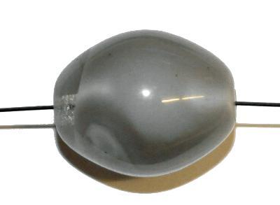 Best.Nr.:63757 Glasperlen Oliven in den 1960/70 Jahren in Gablonz/Böhmen hergestellt,  kristall grau