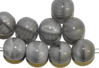 Best.Nr.:22275 Glasperlen rund, Perlettglas grau, hergestellt in Gablonz / Böhmen