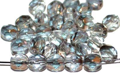 Best.Nr.:28141 facettierte Glasperlen  metallic finish, hergestellt in Gablonz / Tschechien