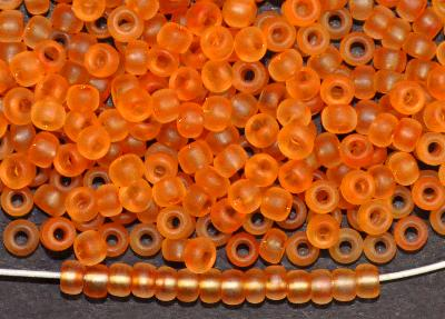 Best.Nr.:14069 Rocailles von Preciosa Tschechien  orange mattiert (frostet)