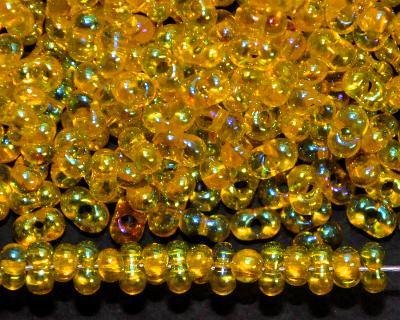 Best.Nr.:00836 Farfalle Rocailles von Preciosa Tschechien gelb mit AB