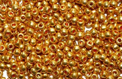 Best.Nr.:07045 Rocailles von Ornella Preciosa Tschechien, metallic gold