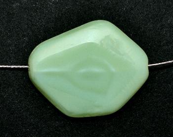 Best.Nr.:67779 Glasperlen geschliffen / Table Cut Beads, Hergestellt in Gablonz / Böhmen mint opak, Rand mattiert (frostet)
