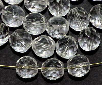 Best.Nr.:41009 facettierte Glasperlen kristall