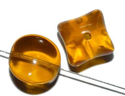 Best.Nr.:63604 Glasperlen, 1950/60 in Gablonz/Böhmen hergestellt, topas transparent