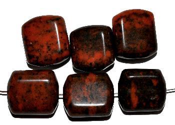 Best.Nr.:49319 Glasperlen orange, mit picasso finish