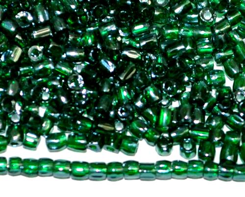 Best.Nr.:18027 3-Cutbeads von Ornella Preciosa Tschechien  grün transp. mit lüster