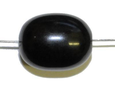 Best.Nr.:63414  Bakelit Perle Olive,  schwarz,  1940/50 in Gablonz/Böhmen hergestellt