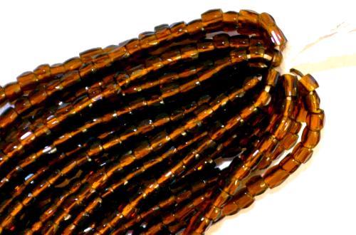 Best.Nr.:18037  3-Cutbeads von Ornella Preciosa Tschechien  topas transp.