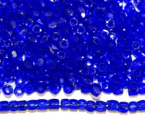 Best.Nr.:18052  3-Cutbeads von Ornella Preciosa Tschechien  dunkelblau transp.