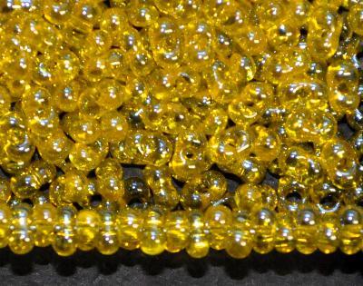 Best.Nr.:00842 Farfalle Rocailles von Preciosa Tschechien gelb mit lüster