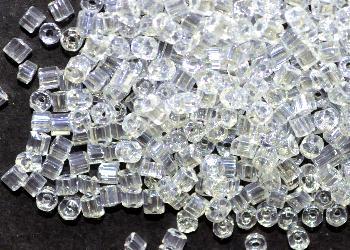 Best.Nr.:41105 Glasperlen / Schnittperlen, von Preciosa Ornella Tschechien hergestellt, kristall mit lüster