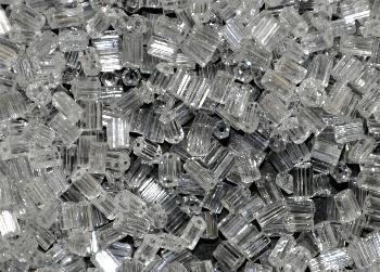 Best.Nr.:41046 Glasperlen / Stiftperlen in den 1950/60 Jahren in Gablonz/Böhmen hergestellt, kristall
