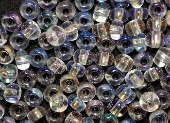 Best.Nr.:10041 Rocailles aus Gablonz / Böhmen  kristall mit AB (irisierend)