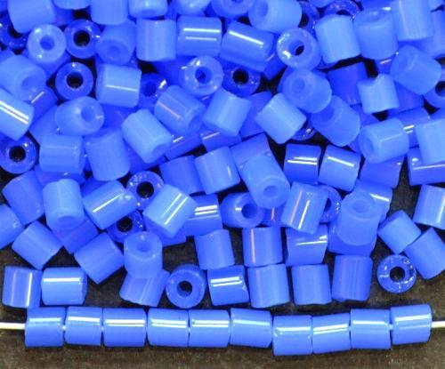 Best.Nr.:19241 Schnittperlen / 2-Cutbeads  alabaster blau,  von Preciosa Ornella Tschechien