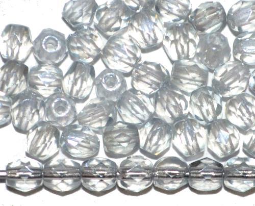 Best.Nr.:23066  facettierte Glasperlen  leicht blaugrau getönt mit lüster finish,  hergestellt in Gablonz / Tschechien