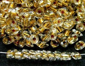 Best.Nr.:20005 cut pipes/ kristall mit Goldeinzug