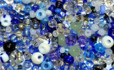 Best.Nr.:s-0056 Glasperlen Rocailles,  hergestellt in Gablonz Tschechien,  Farbmix