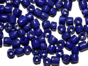 Best.Nr.:18025 3-Cutbeads von Ornella Preciosa Tschechien dunkelblau opak