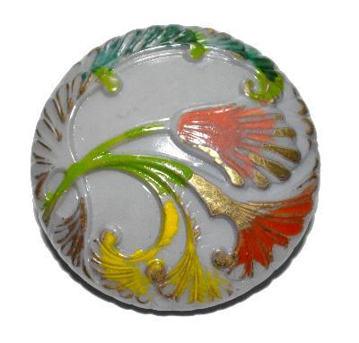 Best.Nr.:43077 Glasknopf, handgefertigt, handbemalt In Gablonz / Böhmen hergestellt.