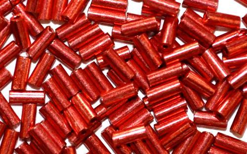 Best.Nr.:21020 Glasperlen / Stiftperlen  metallic rot,  von Preciosa Ornella Tschechien hergestellt