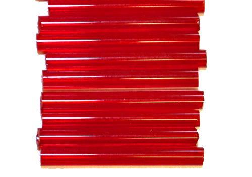 Best.Nr.:21030 Glasperlen / Stiftperlen  rot transp.,  von Preciosa Ornella Tschechien hergestellt