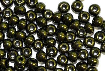 Best.Nr.:07004 Rocailles von Ornella Preciosa Tschechien grün metallic