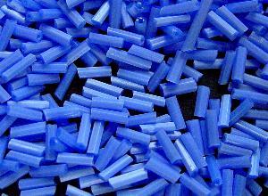 Best.Nr.:21118 Glasperlen / Stiftperlen in den 1940/50 Jahren in Gablonz/Böhmen hergestellt, Satinglas hellblau