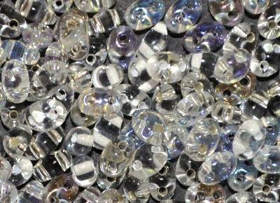 Best.Nr.:78044 Twin Beads von Ornella Preciosa Tschechien MIX kristall /AB/Silbereinzug