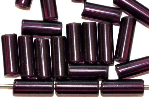 Best.Nr.:21134 Glasperlen / Stiftperlen  violett transp.,  von Preciosa Ornella Tschechien hergestellt