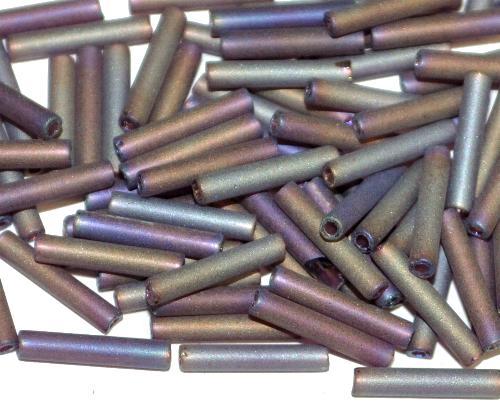 Best.Nr.:21043  Schtiftperlen hergestellt von Preciosa Ornella Tschechien,  violett mit AB mattiert