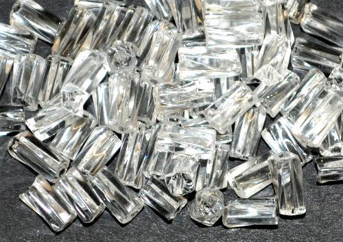 Best.Nr.:21167  Glasperlen / Stiftperlen getwistet  kristall,  von Preciosa Ornella Tschechien hergestellt