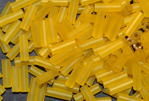 Best.Nr.:21186 Stiftperlen  gelb transp. mattiert,  hergestellt von Preciosa Ornella Tschechien