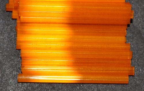 Best.Nr.:21192  Stiftperlen / Bugles von Ornella Preciosa Ornella Tschechien,  Satinglas orange