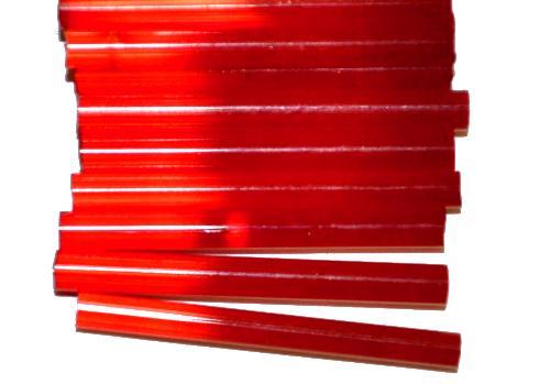 Best.Nr.:21196  Stiftperlen / Bugles von Ornella Preciosa Ornella Tschechien,  Satinglas rot