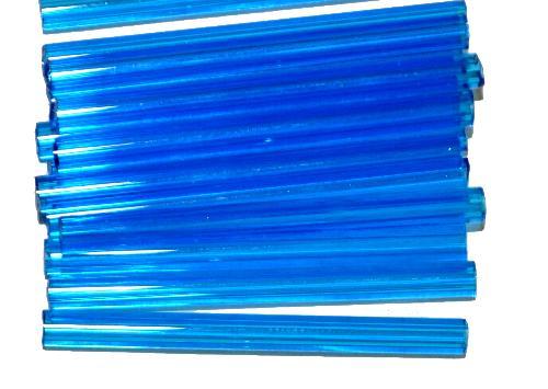 Best.Nr.:21197 Glasperlen / Stiftperlen  von Preciosa Tschechien hergestellt,  hellblau transp.