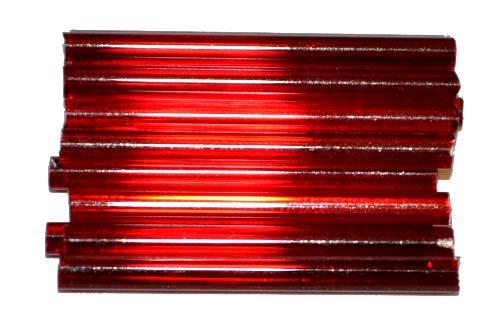 Best.Nr.:21198  Glasperlen / Stiftperlen von Preciosa Ornella Tschechien,  granatrot mit Silbereinzug