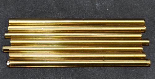 Best.Nr.:21199 Glasperlen / Stiftperlen von Preciosa Ornella Tschechien,  topas mit Silbereinzug