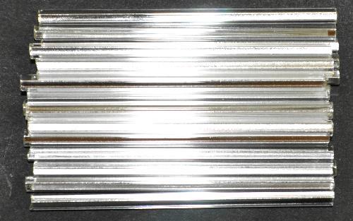 Best.Nr.:21201  Glasperlen / Stiftperlen von Preciosa Ornella Tschechien,  kristall mit Silbereinzug
