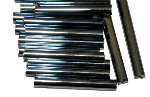 Best.Nr.:21204 Glasperlen / Stiftperlen,  von Preciosa Ornella Tschechien hergestellt,  schwarz mit lüster